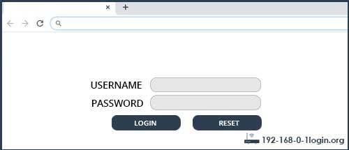 Wise router router default login