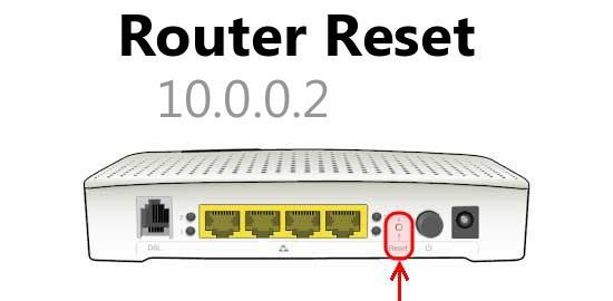 10.0.0.2 router reset
