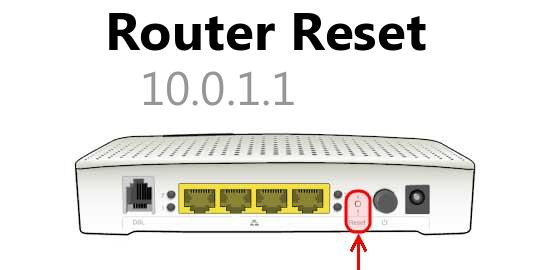 10.0.1.1 router reset
