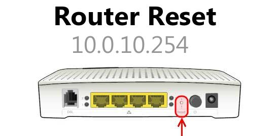 10.0.10.254 router reset