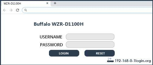 Buffalo router router default login