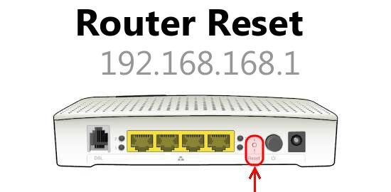 192.168.168.1 router reset