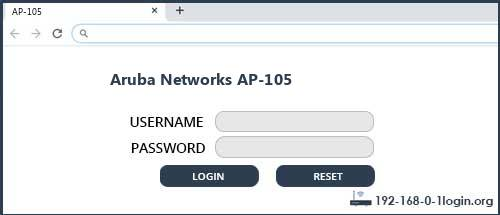 Aruba Networks router router default login
