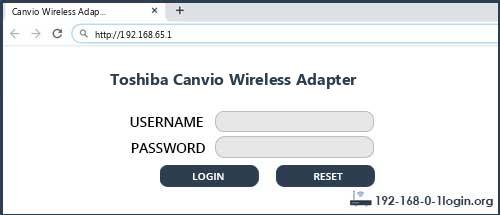 Toshiba router router default login