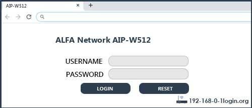 ALFA Network router router default login
